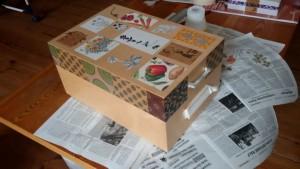 Die schöne Box wird noch lackiert.